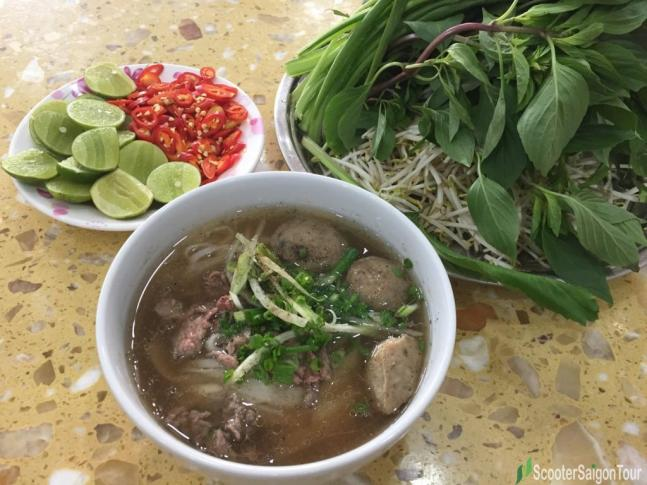 Vietnamese Beef Noodle Soup or Pho at Pho Le restaurant tracy