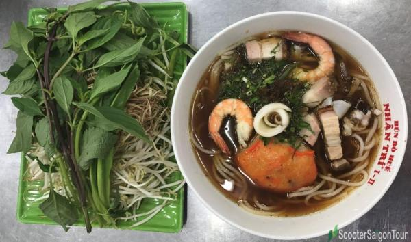 Rice Noodle Soup With Fermented Fish Paste Or Bun Mam 2