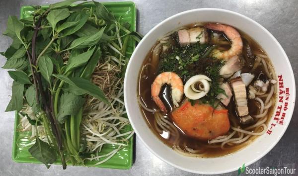 Rice Noodle Soup With Fermented Fish Paste Or Bun Mam 2