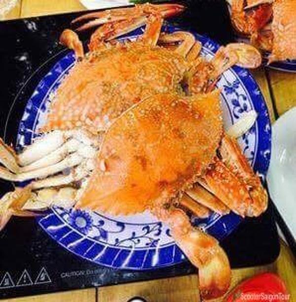 Boiled Ocean Crab In Vietnam