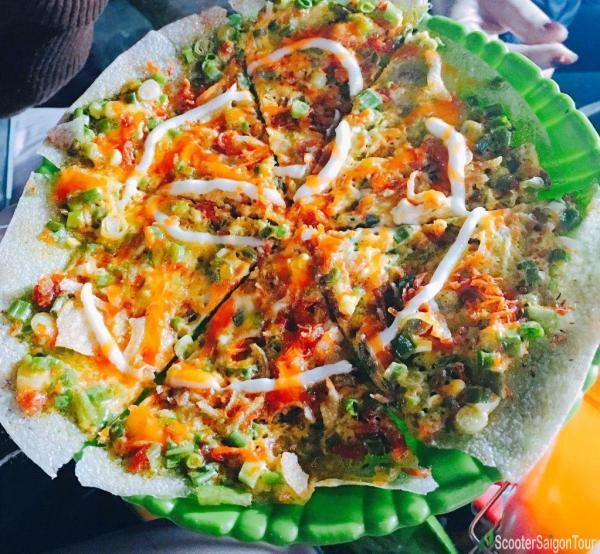 Grilled Rice Pancake In Saigon, Vietnam
