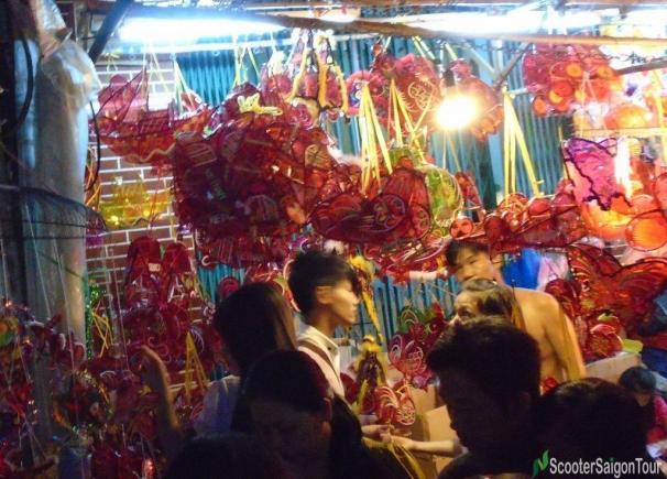 Lantern Market On Luong Nhu Hoc Street At Mid Autumn Festival