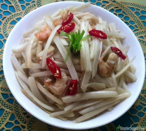 lotus stem salad is a specialty food of Dong Thap - the lotus kingdom