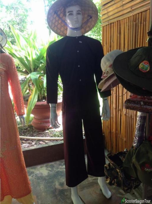 Vietnamese Silk Pajama Ao Ba Ba