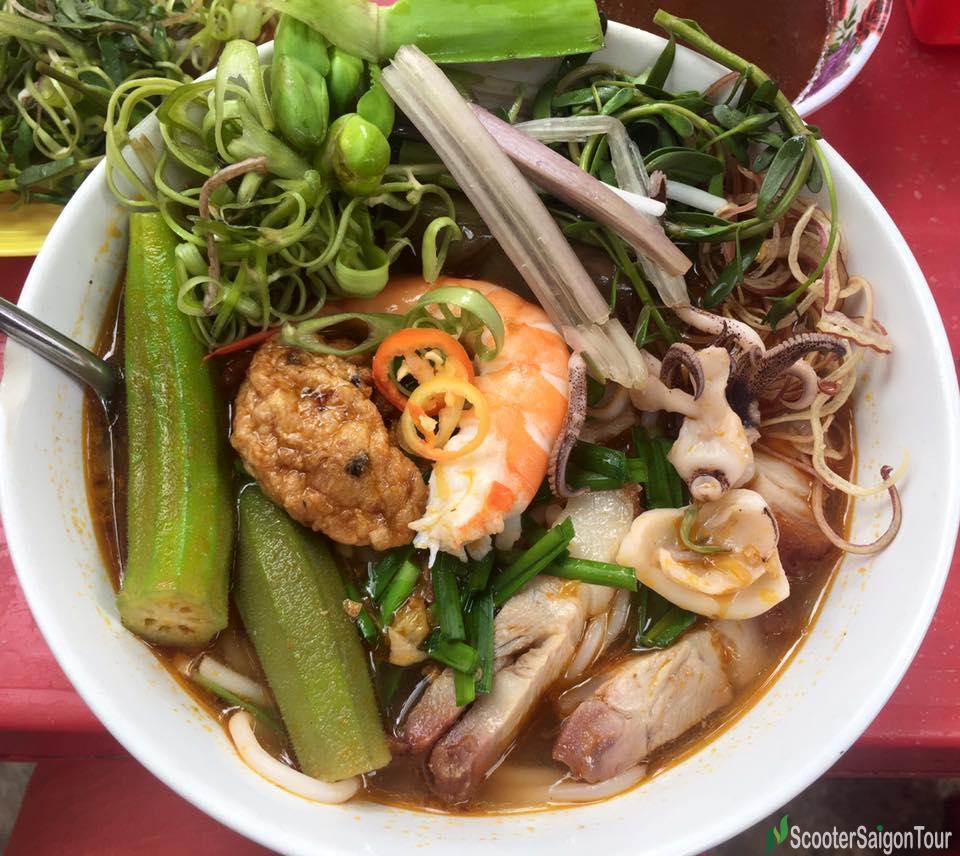 Vietnamese Noodle Soup With Fermented Fish Paste Or Bun Mam