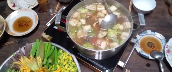 Fermented Fish Hot Pot With Wild Vegetables In U Minh