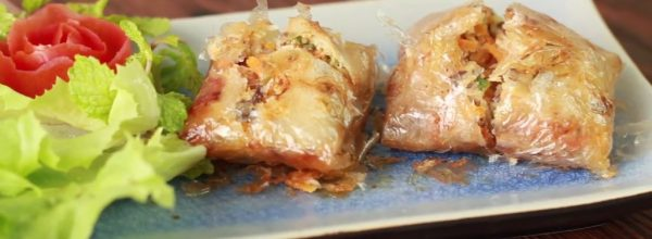 Hai Phong fried sea-crab square roll