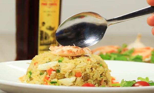 Fried rice with ocean crab in Phu Quoc
