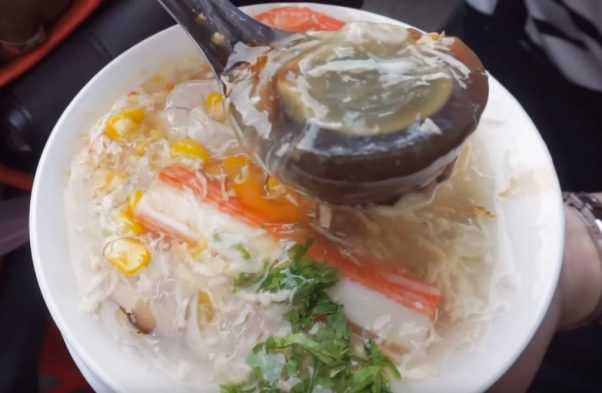 Crab soup - an exotic food in Saigon