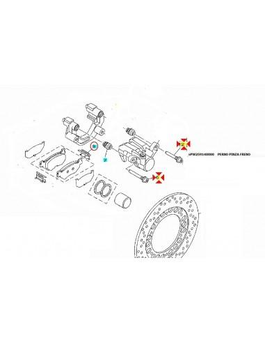 Frenos 5PW259140000 Motor: piezas y accesorios PERNO PINZA