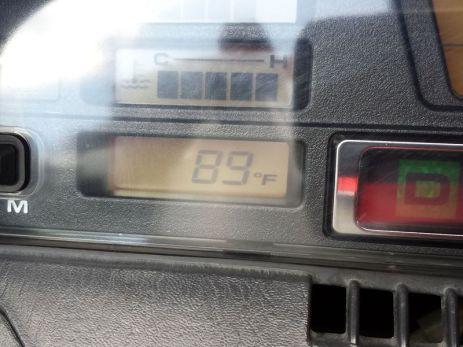 90 degree heat, and full gear
