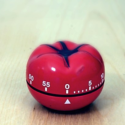 A great alarm clock for the Pomodoro Technique, a time management technique that helps you beat analysis paralysis. Image from Wikipedia.