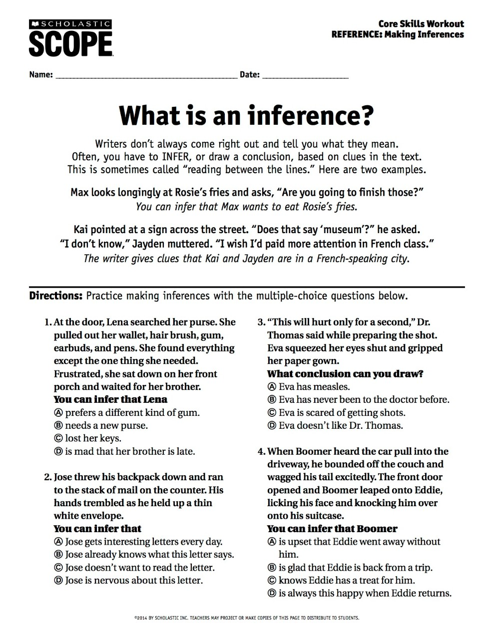 hight resolution of Your Must-Have Inference Activity