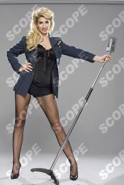 Stacy Solomon in 40's costumes