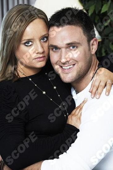 Lucy Davis and husband Welsh actor Owain Yeoman - 2008