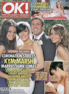 Coronation Street's Kym Marsh marries Jamie LomasShoot by Scope Features photographer Tony Ward appeared in OK! magazine Issue 845