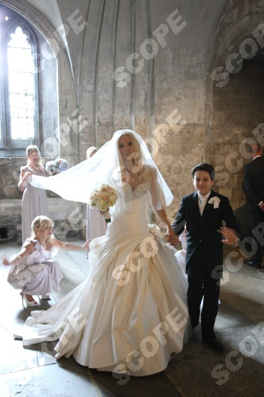 Model Emma Nobles magical wedding at Canterbury Cathedral