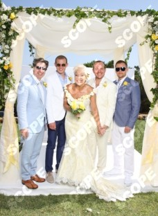 Denise Welch and Lincoln Townley wedding in Portugal