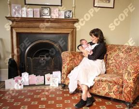 ACTRESS FIONA DOLMAN WITH HER BABY MADELINE CHARLOTTE