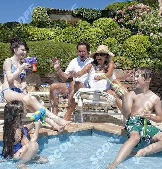 Joan Collins at her villa in St Tropez - 2013