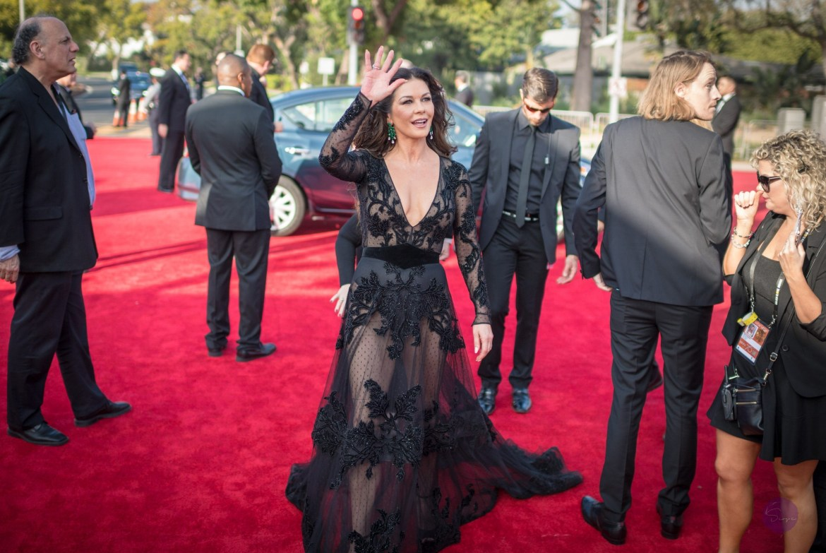 Catherine Zeta-Jones arrives at the 75th Annual Golden Globes Awards at the Beverly Hilton in Beverly Hills, CA on Sunday, January 7, 2018.