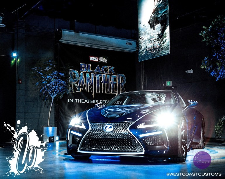 Youve Seen Black Panther The Movie Now See The Lexus LC On - Lexus car show