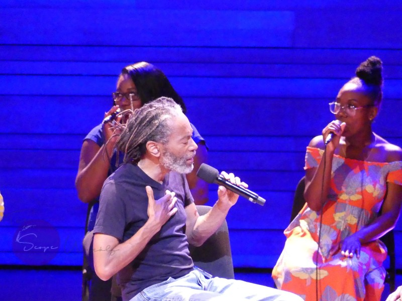 Bobby McFerrin performing at 39th edition Montreal International Jazz Festival. Photo Anne Howard. Copyrighted 2018.