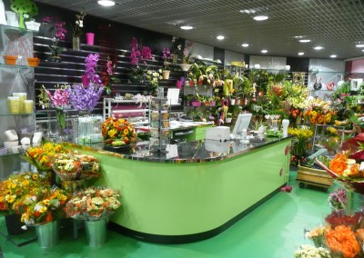 Laporte - agencement de boutique de fleurs - agencement GMS