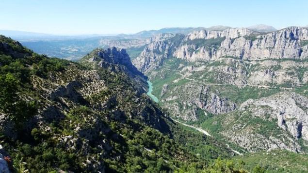 Les Gorges du Verdon viste dall'alto