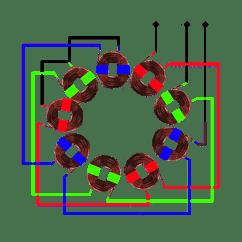 Three Phase Generator Wiring Diagram Fender Telecaster Humbucker 3 Stator Visualisation Hugh Piggott 39s Blog