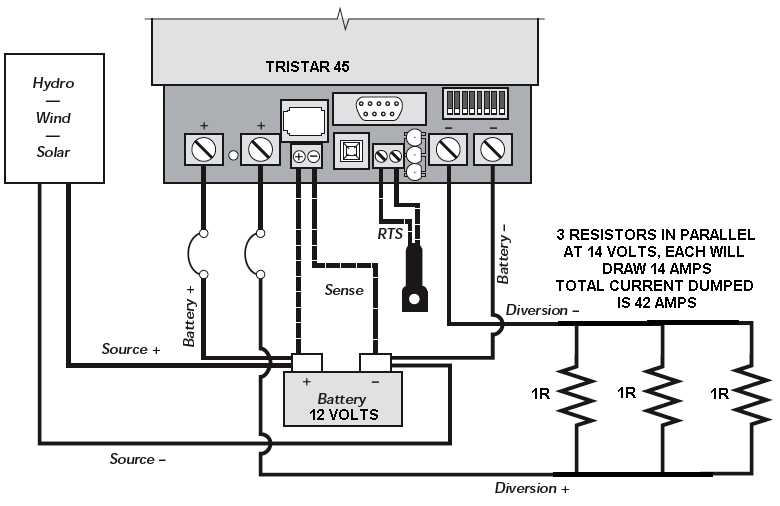 wiring 12 volt dc dump resistor