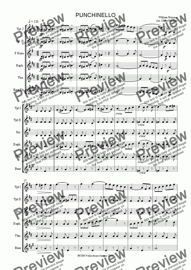 Punchinello Song : punchinello, Punchinello, Download, Sheet, Music