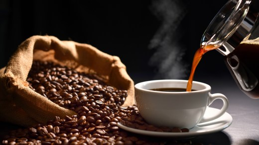 Pouring coffee for coffee lovers.
