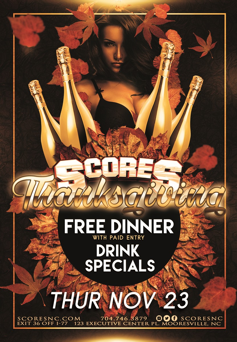 Thanksgiving @ SCORES Gentlemen's Club