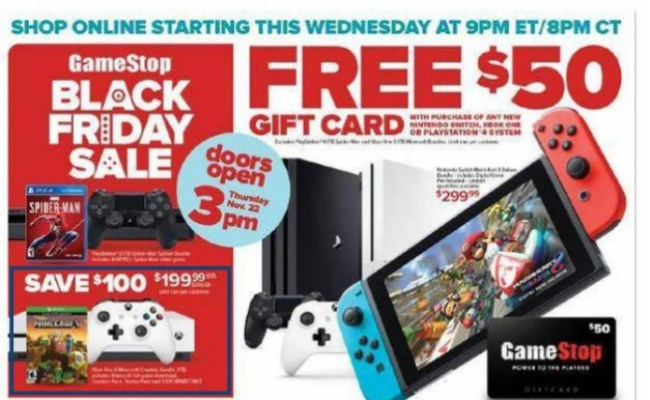 Gamestop Black Friday Ad Leaked Score The Hot Deals