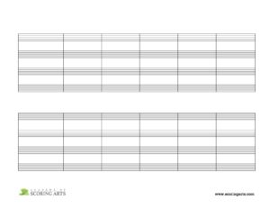 4-Staves per System (w/ Barlines) - Landscape