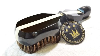 King Scorpion Colt Black Extra Soft Mixed Horse Hair 360 Wave Brush