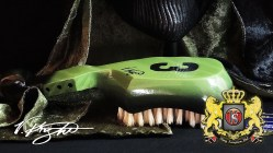 King Scorpion 360 Lime Green Wave Brush - Soft 10 Row