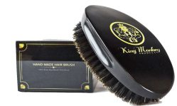 KMP Medium Boar Bristle Cushion Hair & Beard Brush Rubber Cushion Hair Brush