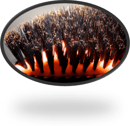 Rubber Cushioned Natural Boar Bristles Hairbrush