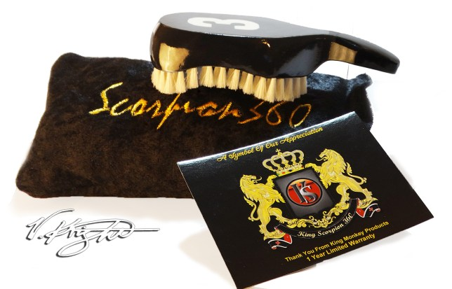 King Scorpion 360 Black Club Brush Wave Brush Kit