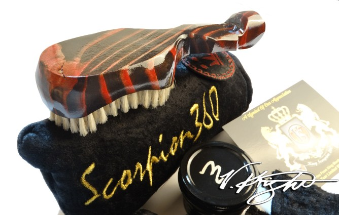 What is a Custom Made King Scorpion 360 Wave Brush?