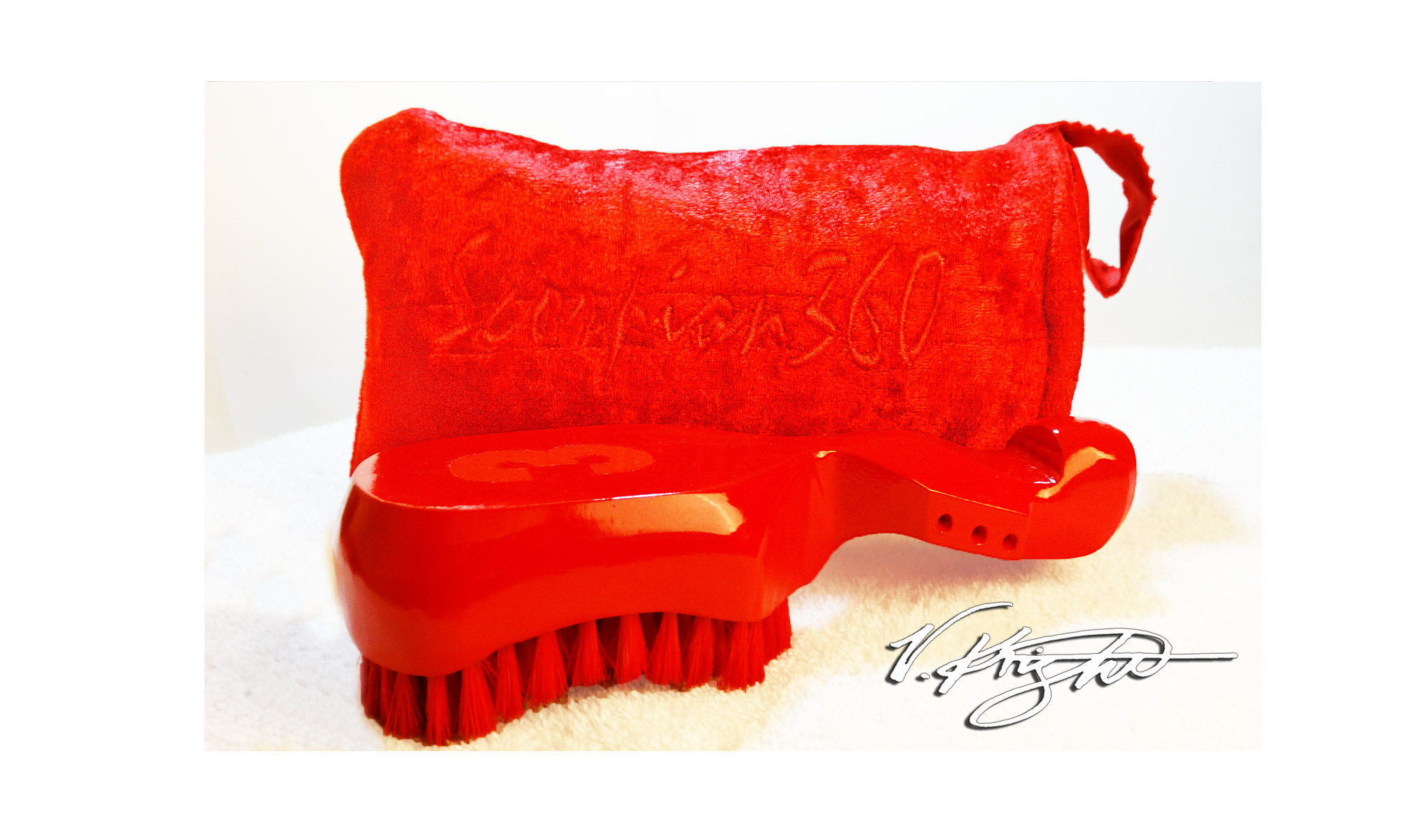 Red On Red Soft Wave Brush Set | King Scorpion 360