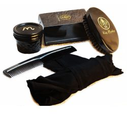 Unisex Medium Black Wave Brush Kit
