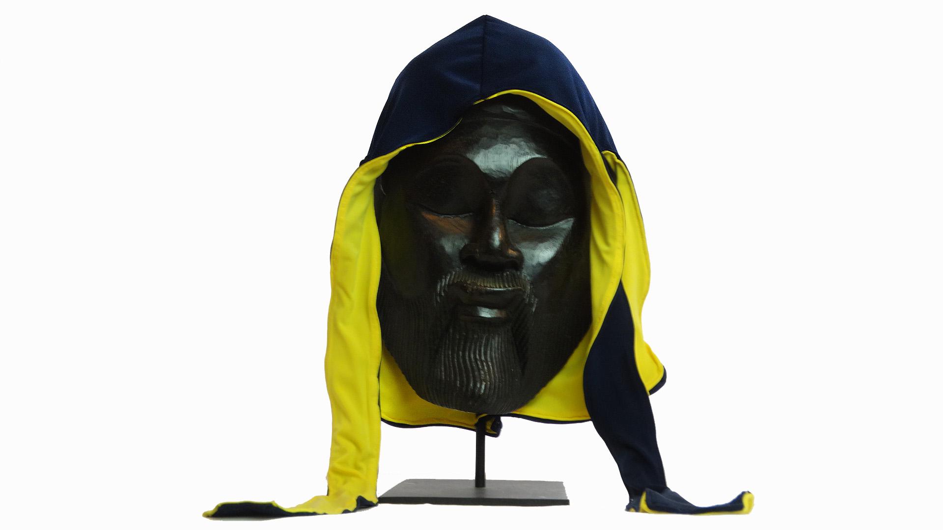 Michigan Blue/Canary Yellow Fat-Lace Reversible Silk Du-Rag