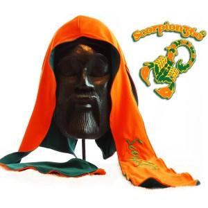 Large Fat-Lace Reversible Silk Du-Rag | Florida Orange & Hunter Green