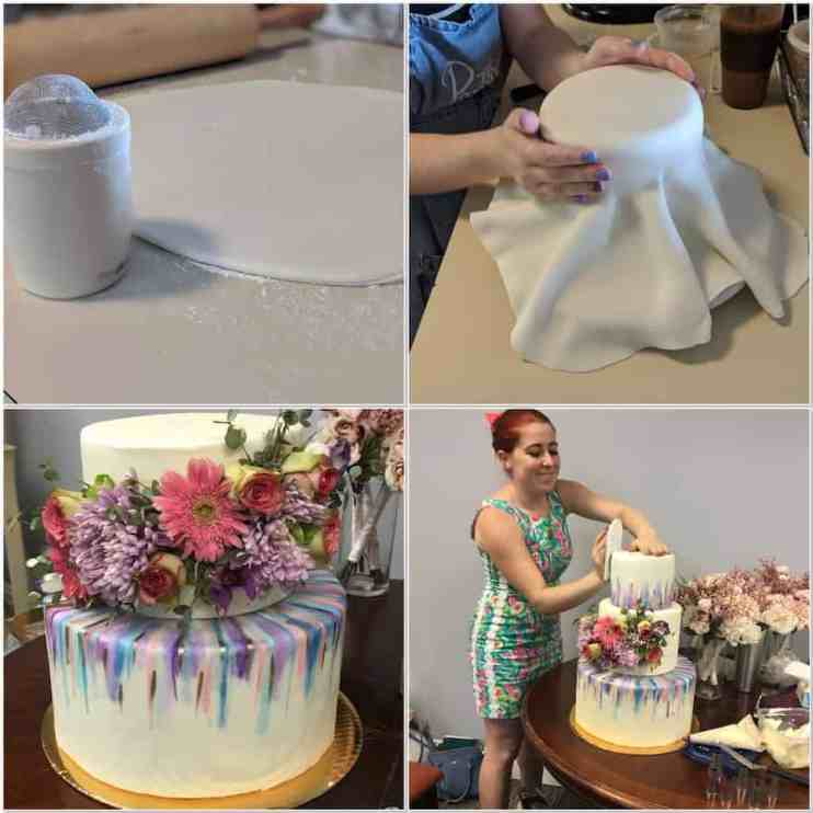 DIY wedding cake, marshmallow fondant, wedding cake, Kahlua Cake, cake decorating