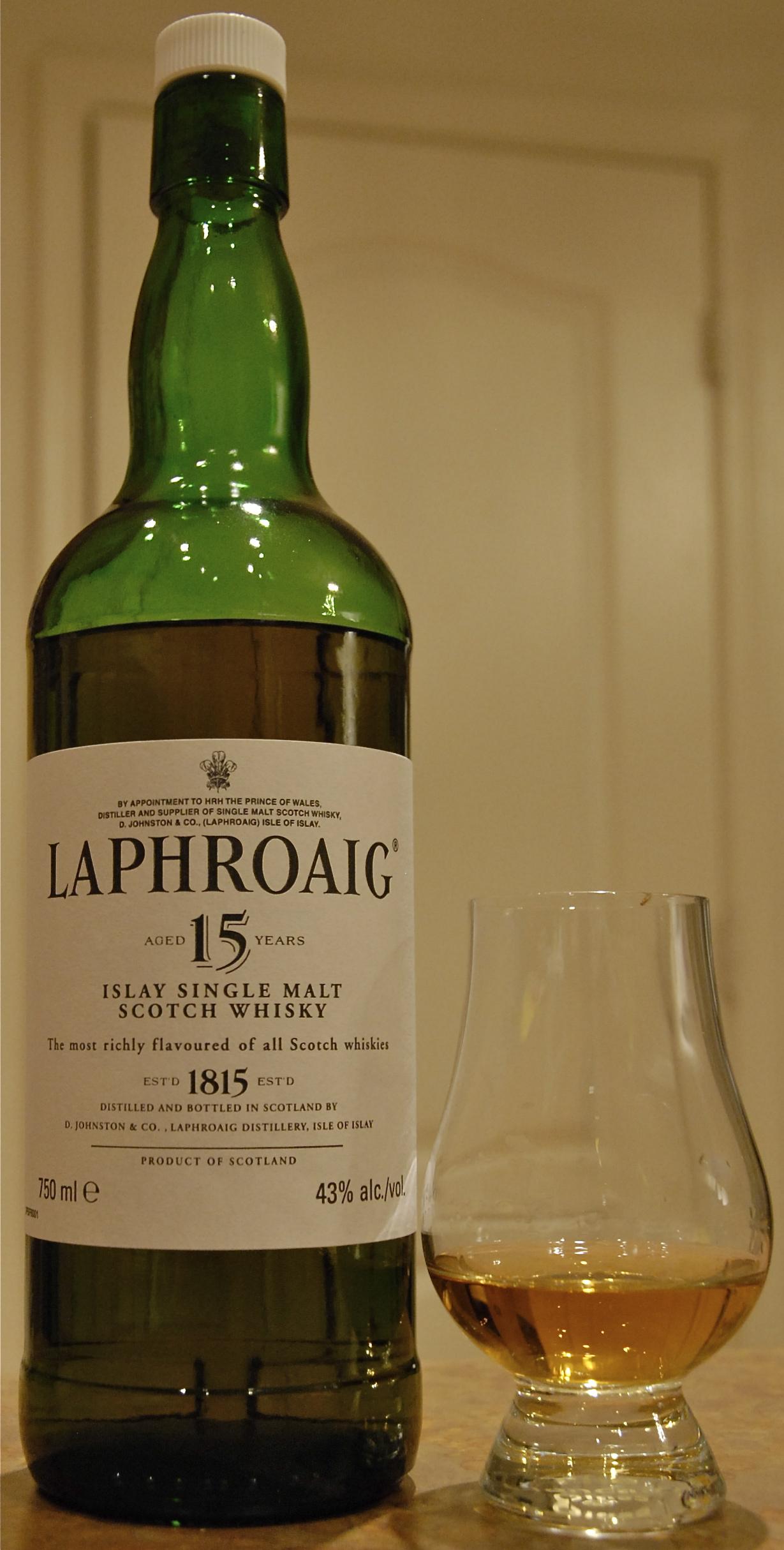 A pour of Laphroaig 15