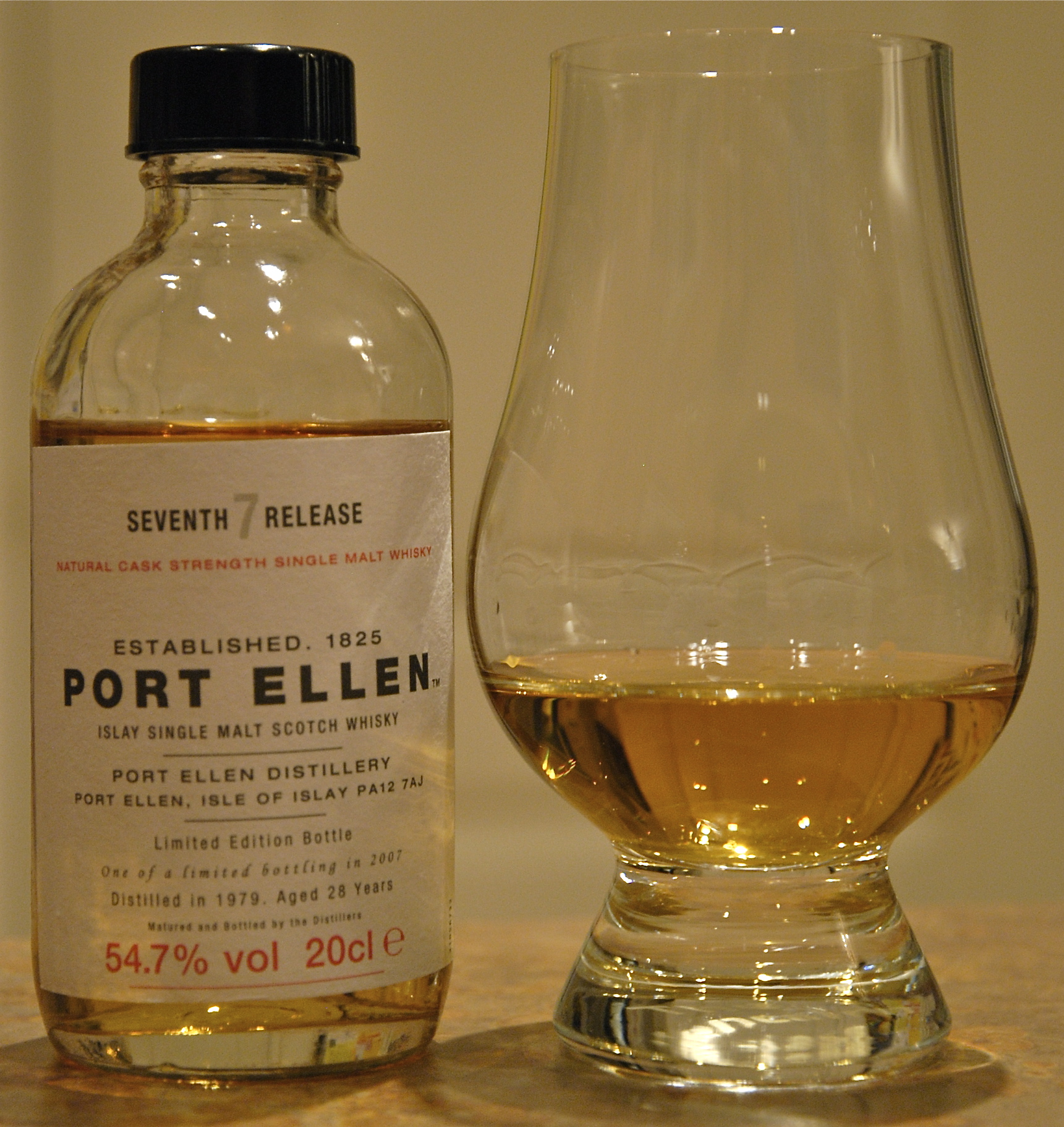 Port Ellen 7th (28 year) in sample bottle