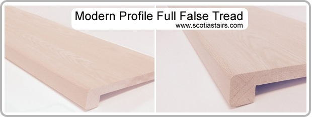Full False Treads Scotia Stairs Ltd   Oak Stair Tread Caps   Pergo Outlast   Scraped Oak   Riser Kit   Wood   Sp125 4F048C